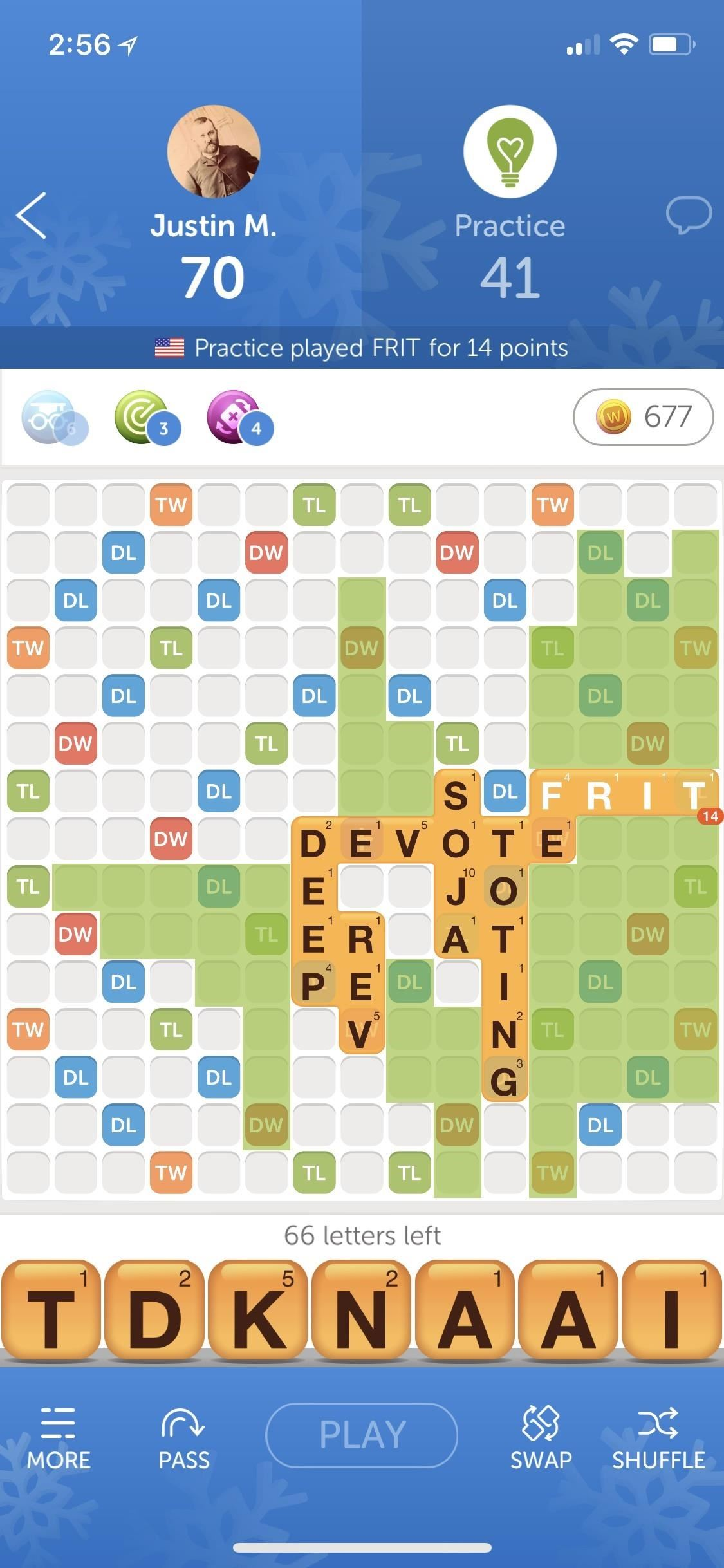 Using word radars to get a good result with words Friends