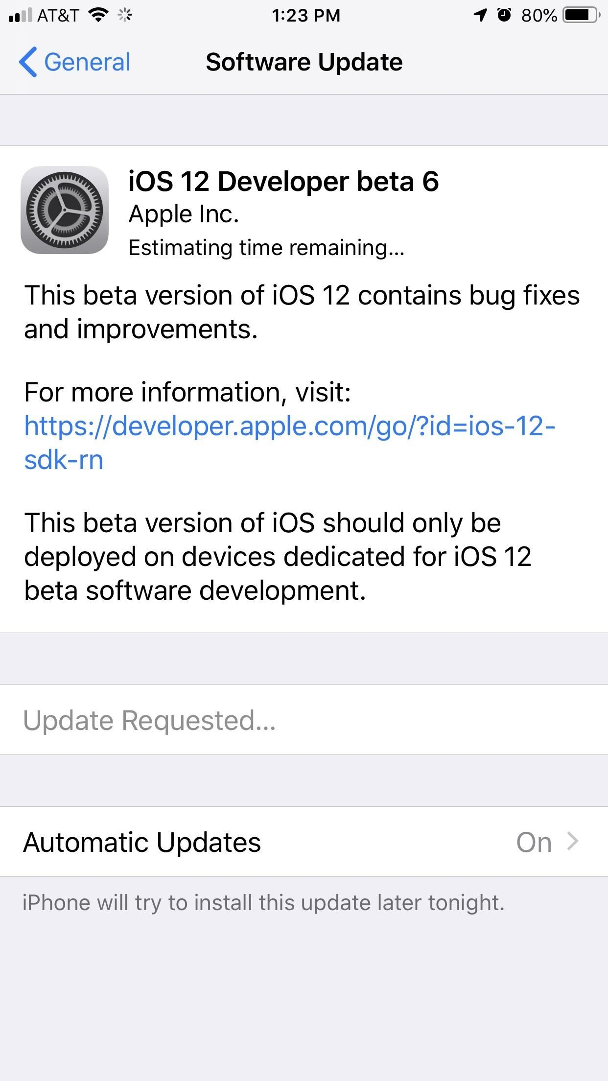 iOS 12 Beta 6 for iPhones Released to Apple Developers