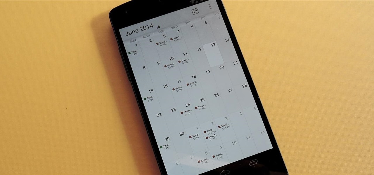 Add Event Overviews to the Google Calendar App on Your Nexus 5
