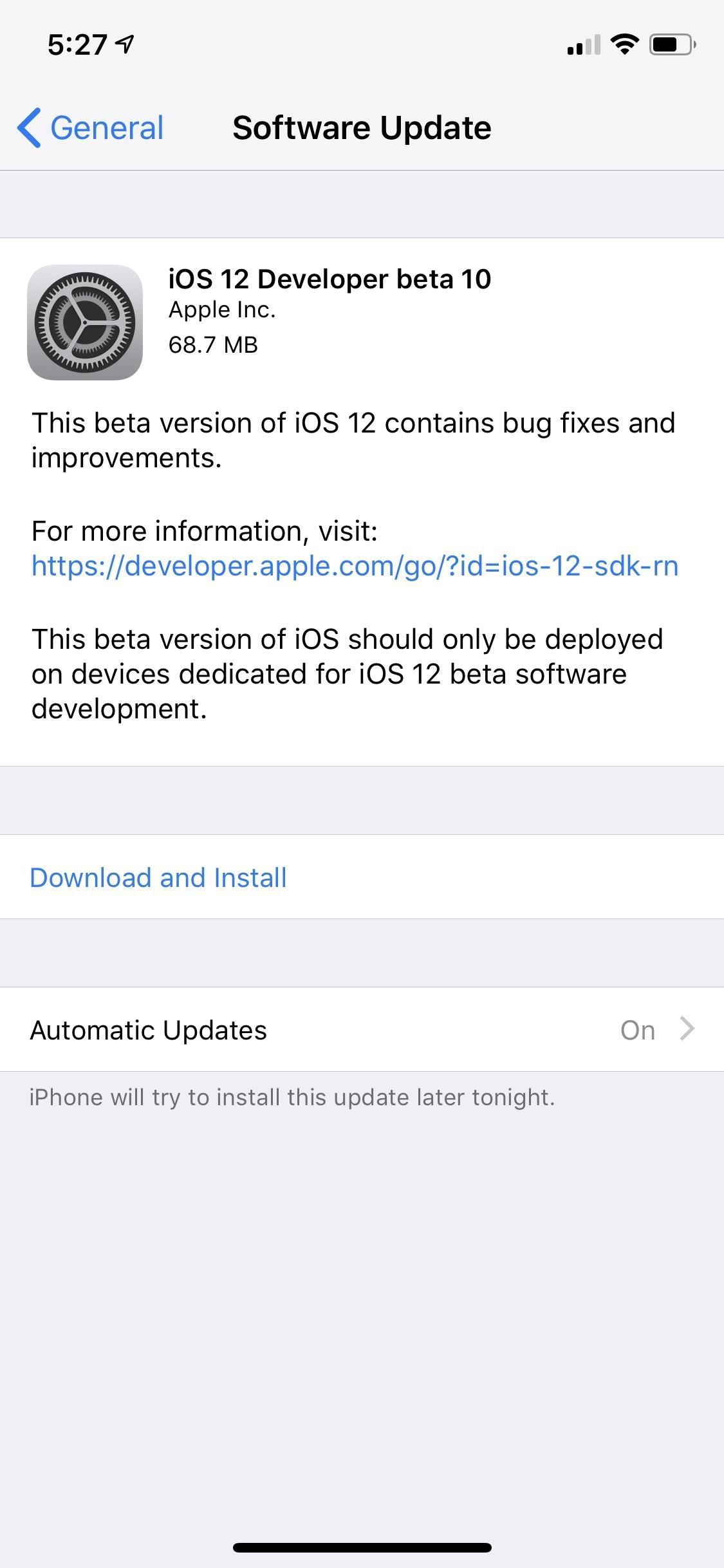 Apple Just Pushed Out iOS 12 Beta 10 for iPhone to Developers