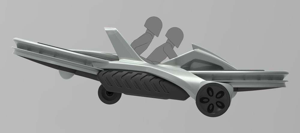 The Future Is Near: Flying 45 MPH Hover Bikes Just a Few Years Away
