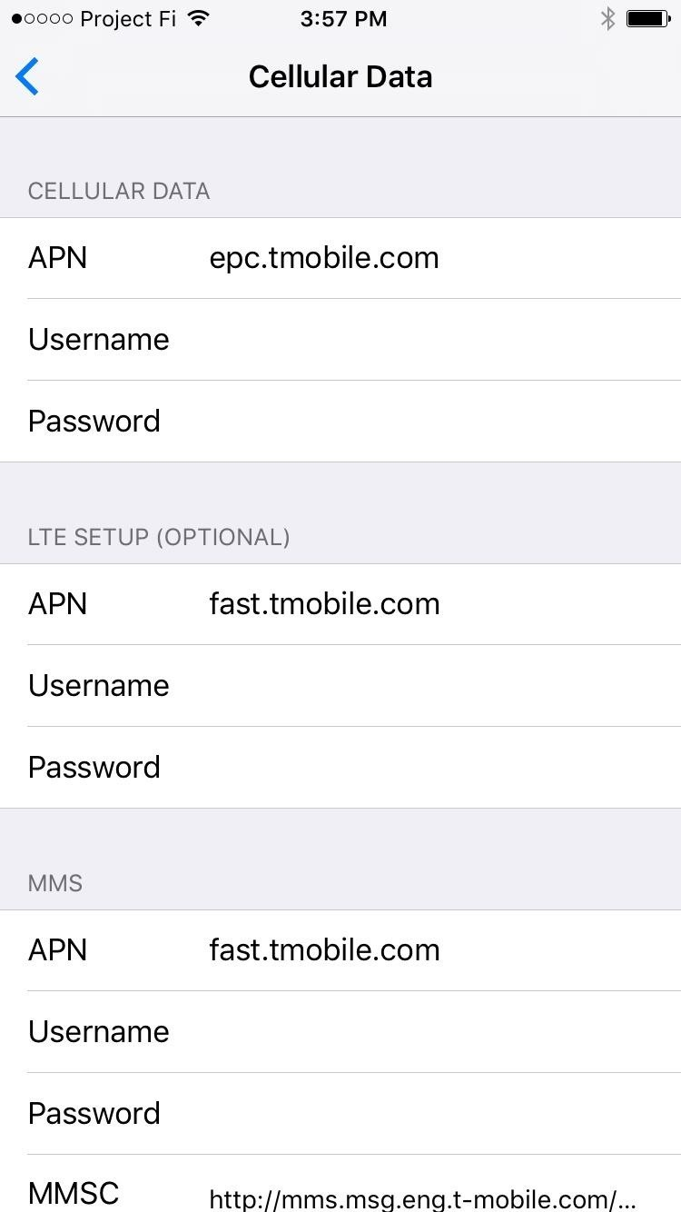 How to set up googles project fi on your iphone ios iphone finally exit to your home screen then restart your iphone when you get back up check to see if mms is working if it is then youre all set to go kristyandbryce Image collections