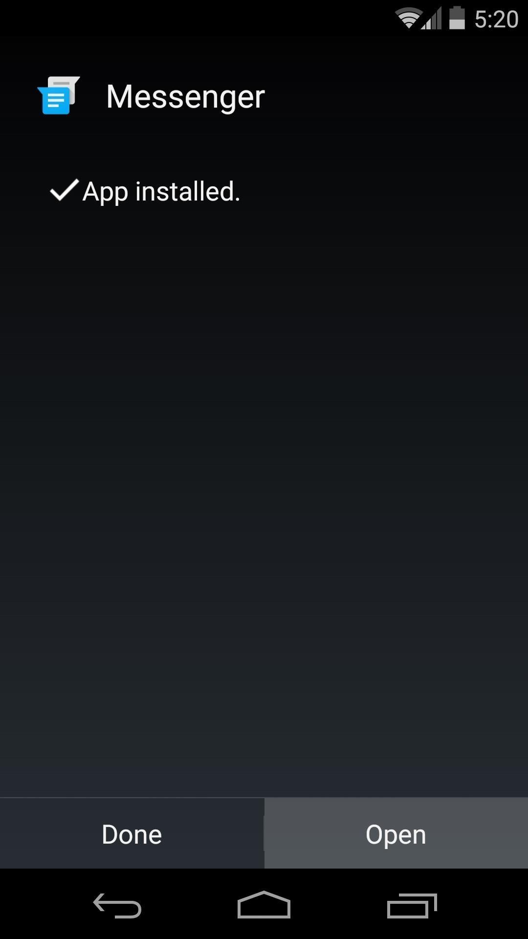 Install the Android 5.0 Lollipop Messenger App on KitKat