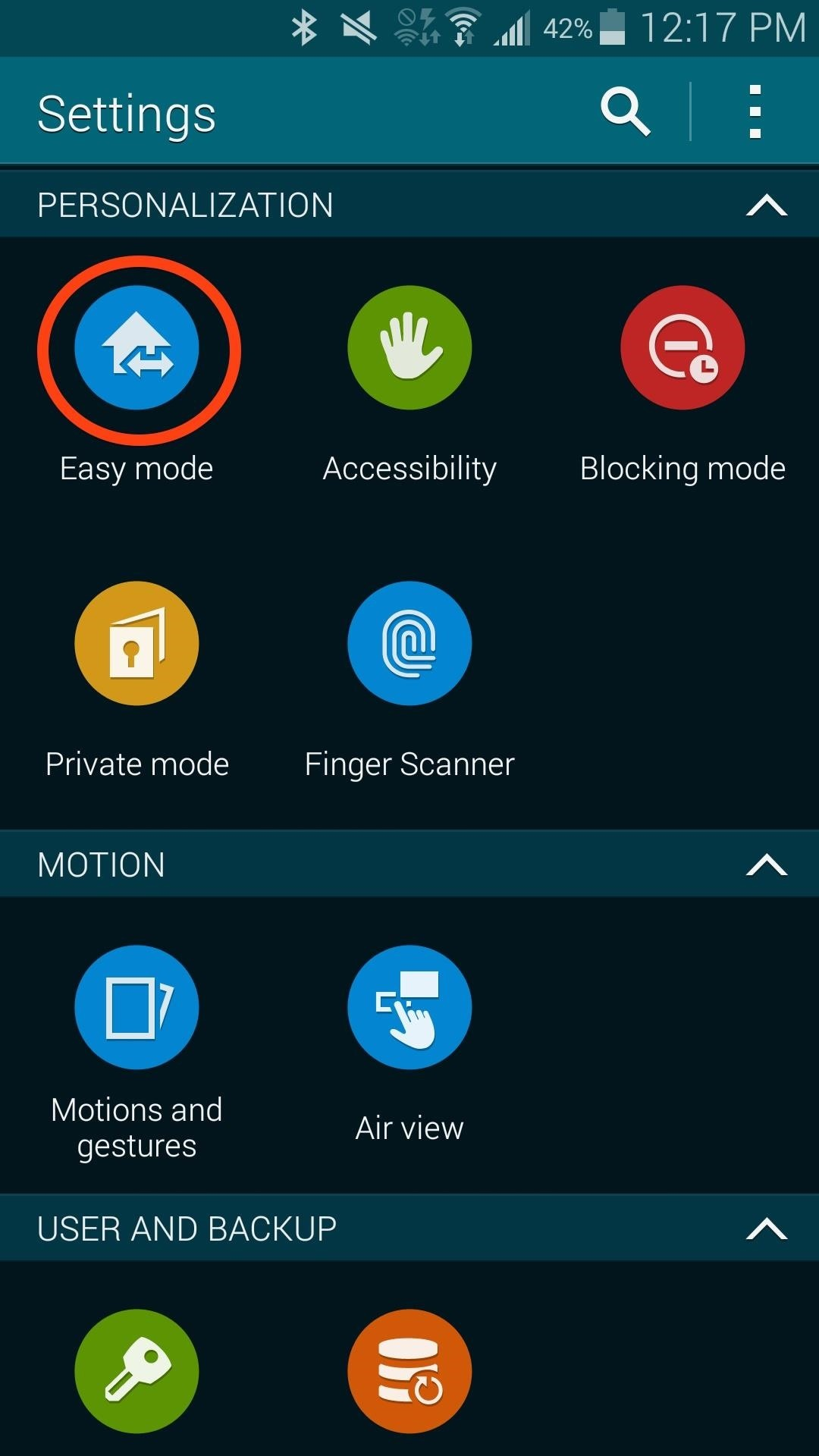 How to set up your grandmas samsung galaxy s5 for easier use easy mode and scroll down to select the applications the user will most likely need others can be added later and tap done at the top of the screen buycottarizona Images