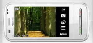 Take a picture on a Nokia C6 mobile phone