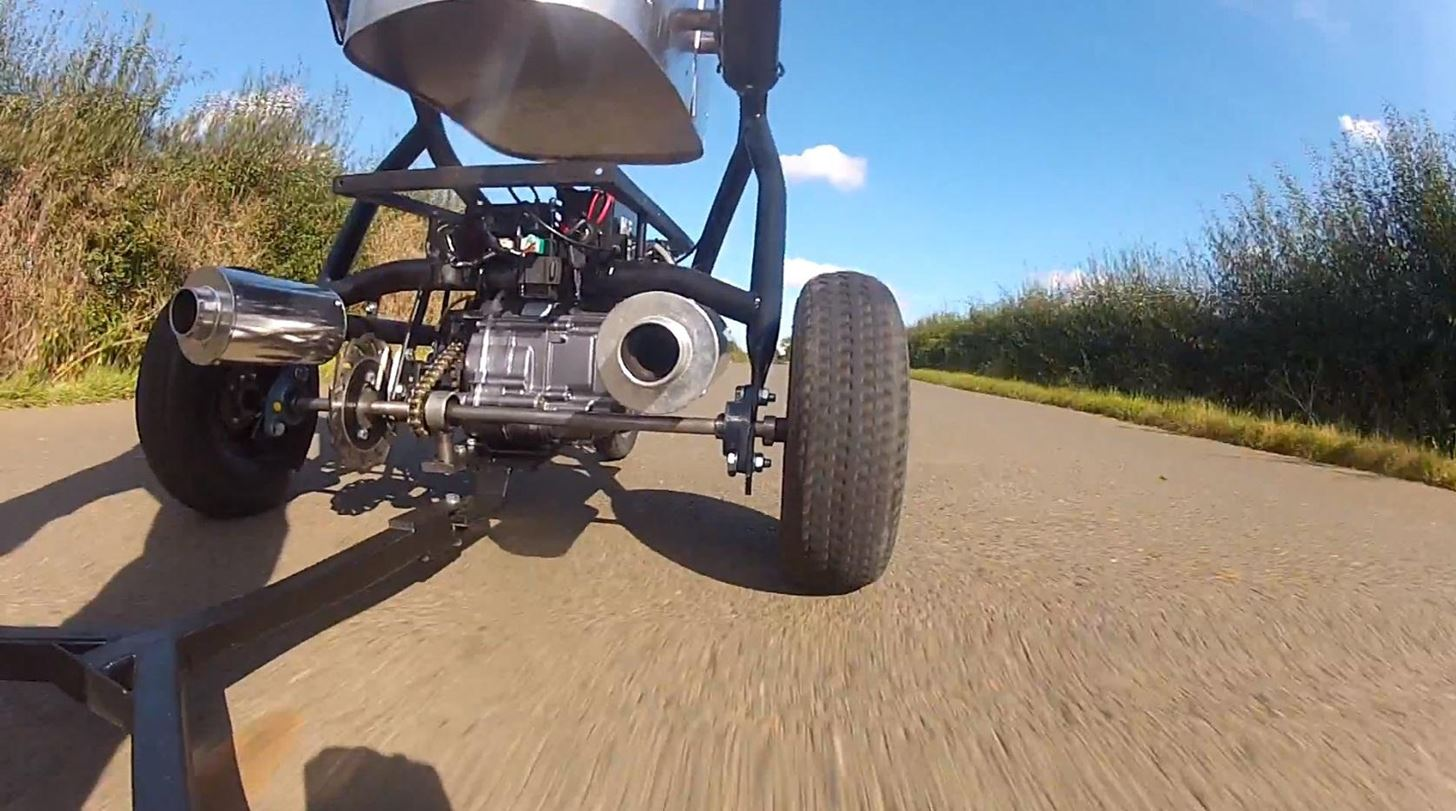 Crazy Dad Enters Guinness World Records with Fastest Baby Stroller Ever (50+ MPH!)