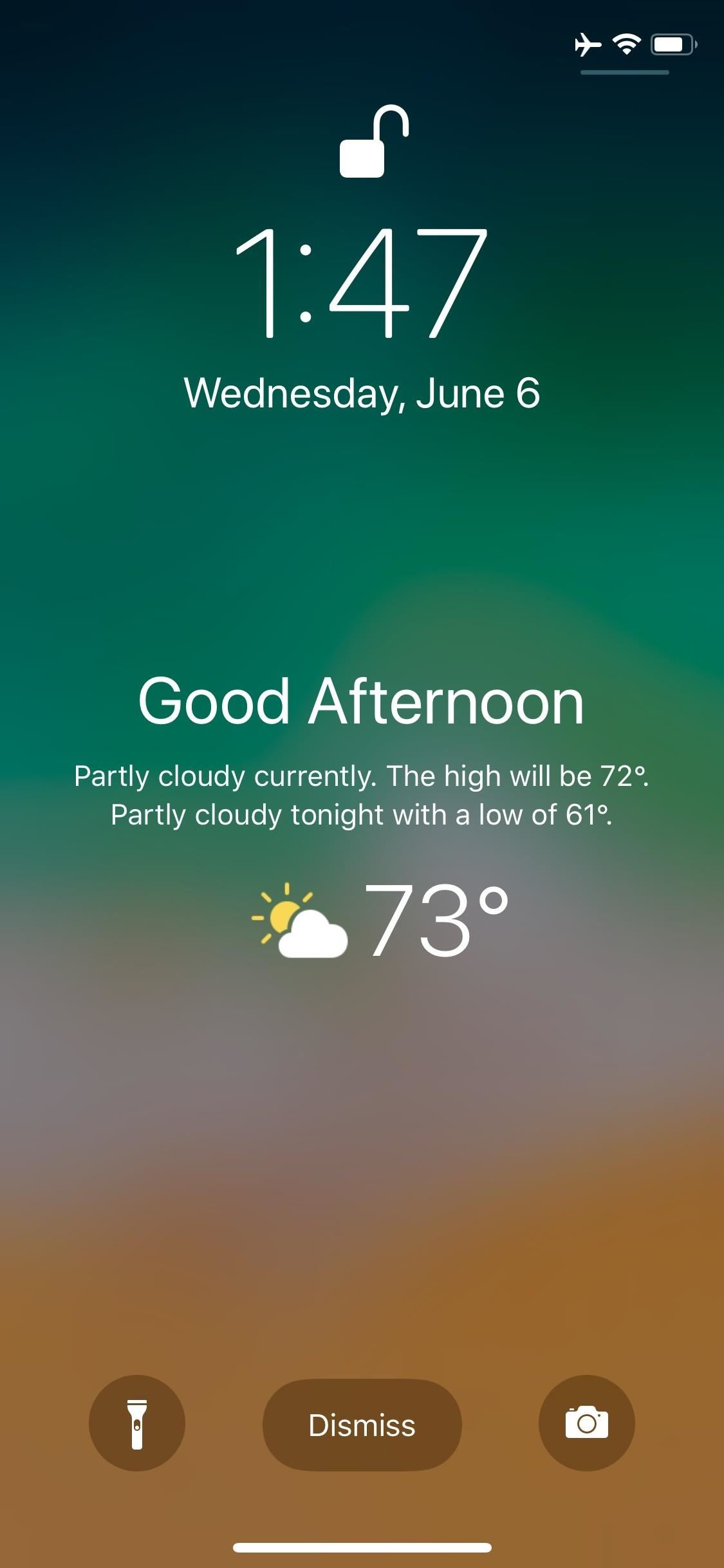 How to unlock the hidden weather lock screen widget in iOS 12 on your iPhone
