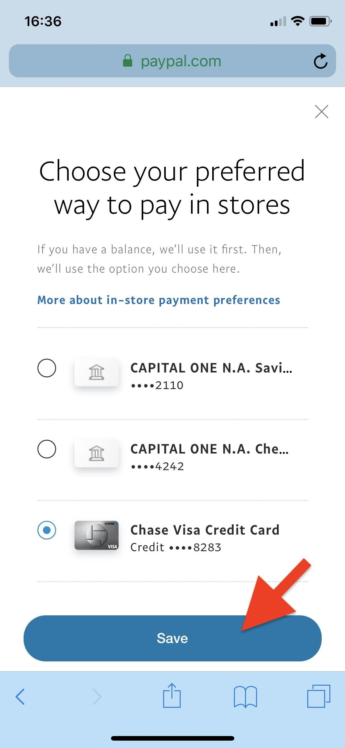 How to Change Online, In-Store, Google Pay, Samsung Pay & PayPal Cash Card Payment Preferences for PayPal