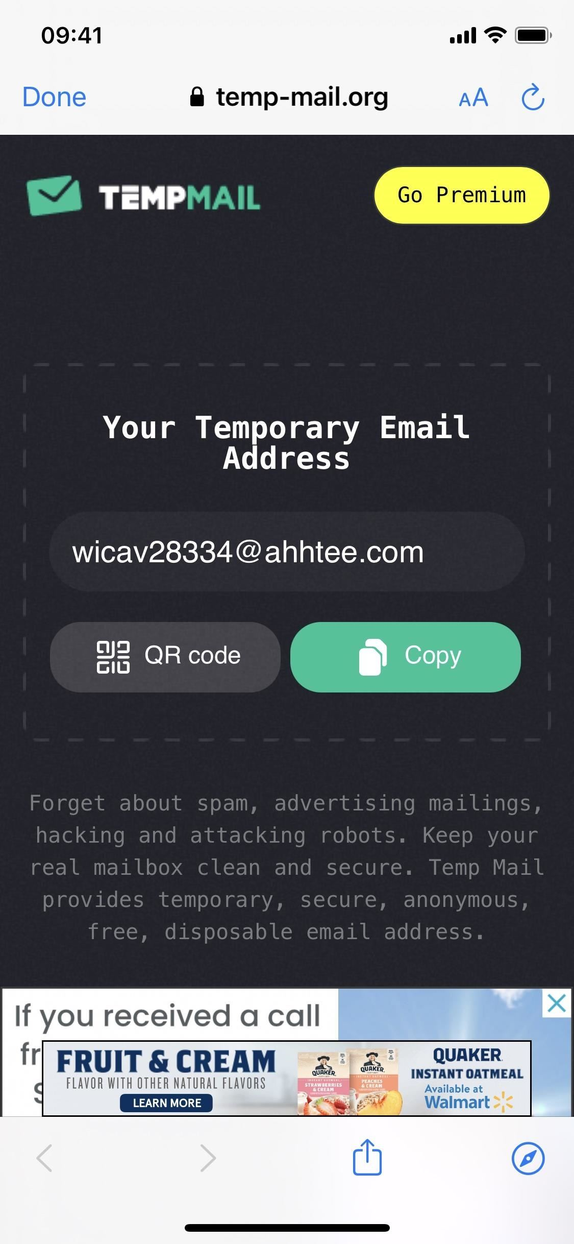 Quickly generate anonymous junk email addresses on your iPhone to protect your real email accounts from spam