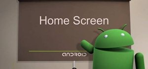 Navigate the home screen on Android phones (1.5/1.6)
