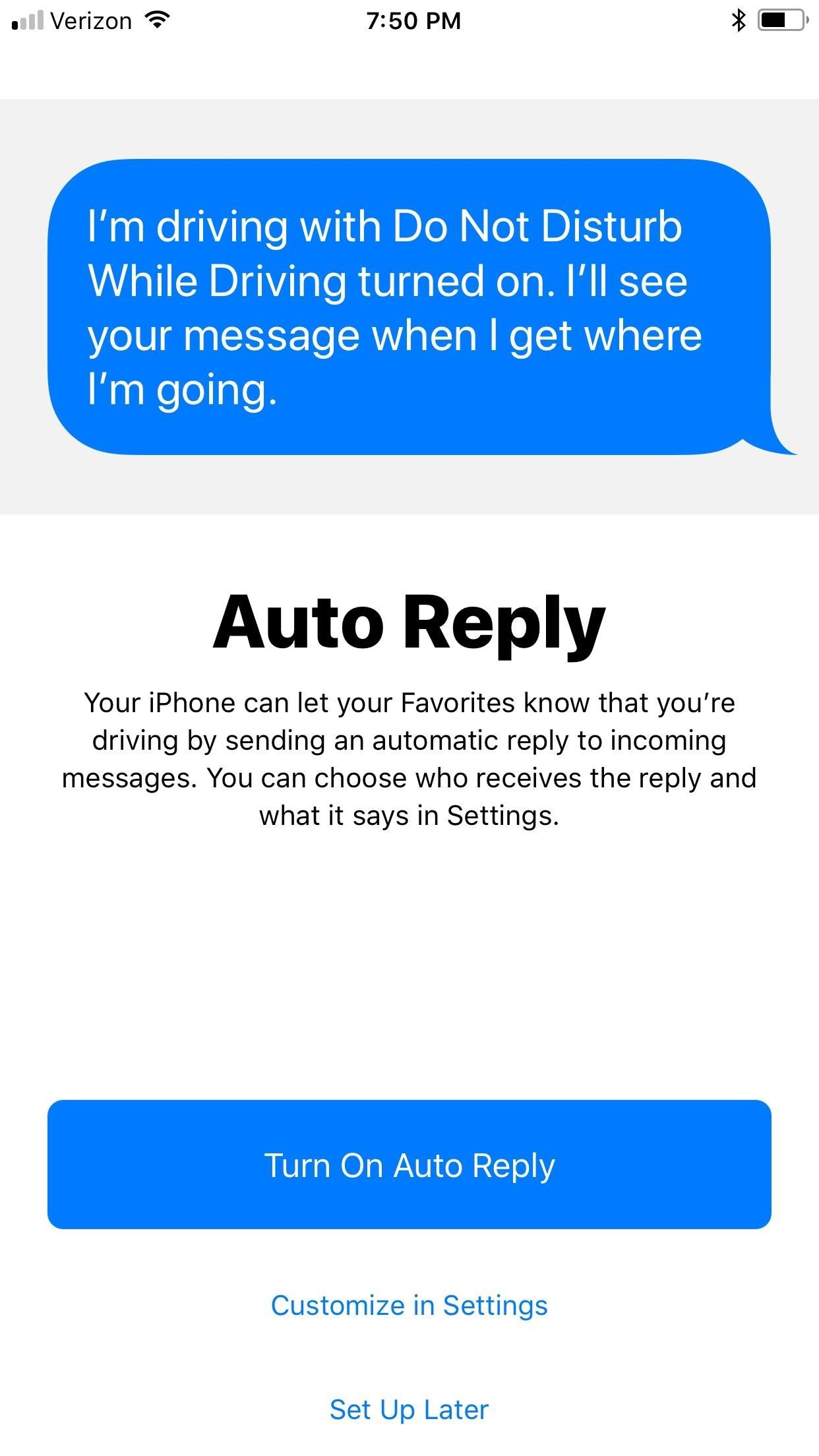 How To Turn Off Driving Mode Iphone >> How to Use 'Do Not Disturb While Driving' on Your iPhone in iOS 11 (Or Turn It Off if You Don't ...