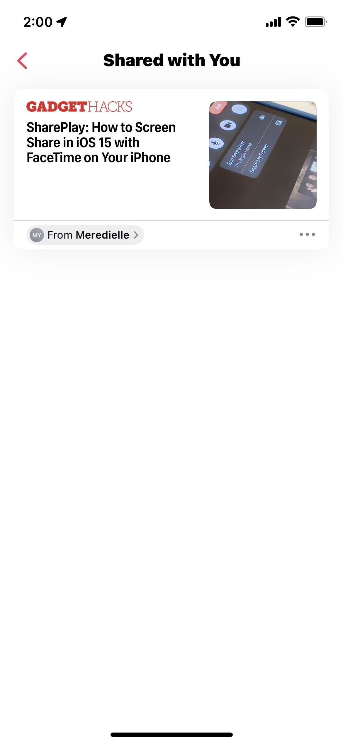 How to Hide Specific Content in iOS 15's New 'Shared with You' Sections Without Disabling the Entire Feature