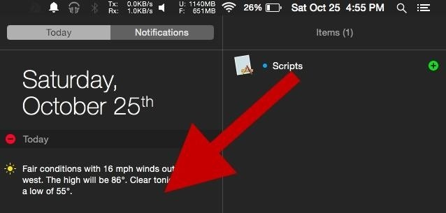 Add Battery, CPU, Memory, & Other Custom Usage Stats to Your Mac's Notification Center
