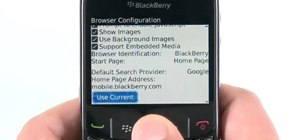 Set a custom start page on a Blackberry Curve 8520 phone