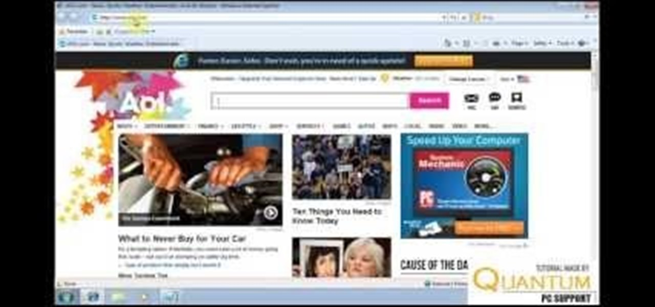 Set Your Internet Explorer Home Page