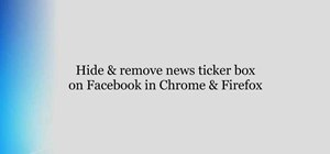 Disable the Facebook news ticker in Google Chrome and Firefox