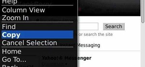 Use the Menu key on a BlackBerry smartphone