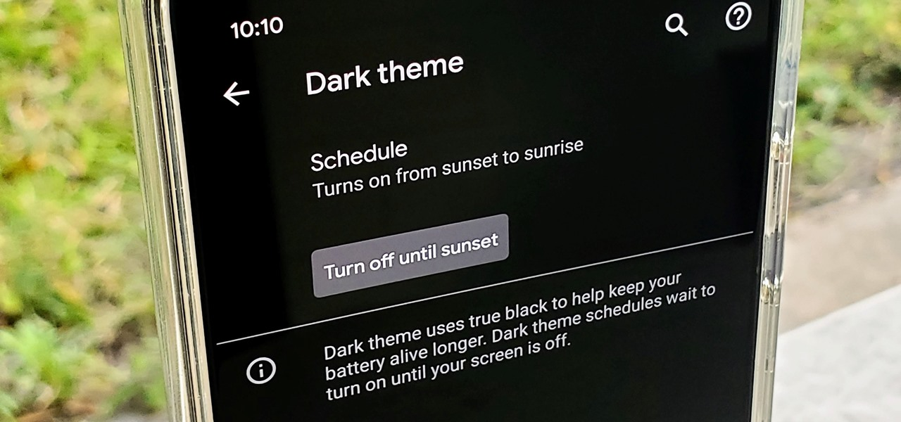 Make Android 10's Dark Mode Turn on Automatically at Sunset