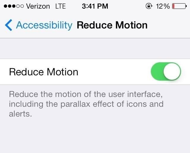 How to Disable the Parallax Effect in iOS 7 to Reduce Motion on Your iPhone