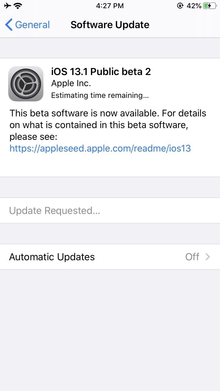 Apple Releases iOS 13.1 Public Beta 2 for iPhone to Software Testers