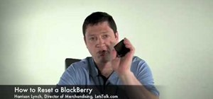 Reset a Blackberry and erase all information
