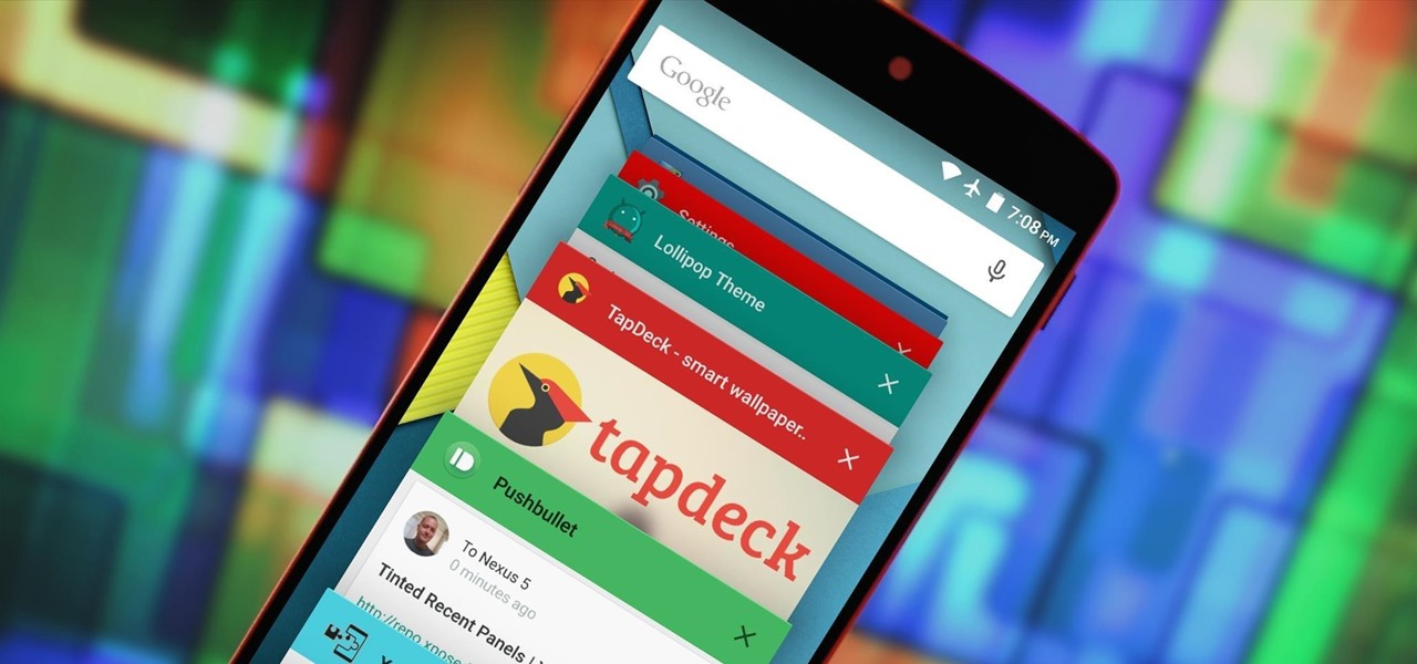 Make Lollipop's Overview Screen a Lot More Colorful by Tinting App Headers
