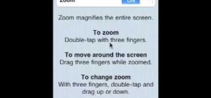 Magnify the screen on an Apple iPhone, iPad or iPod Touch