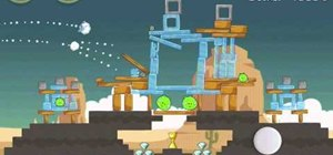Get golden egg 18 in Theme 12 of Angry Birds Ham 'em High
