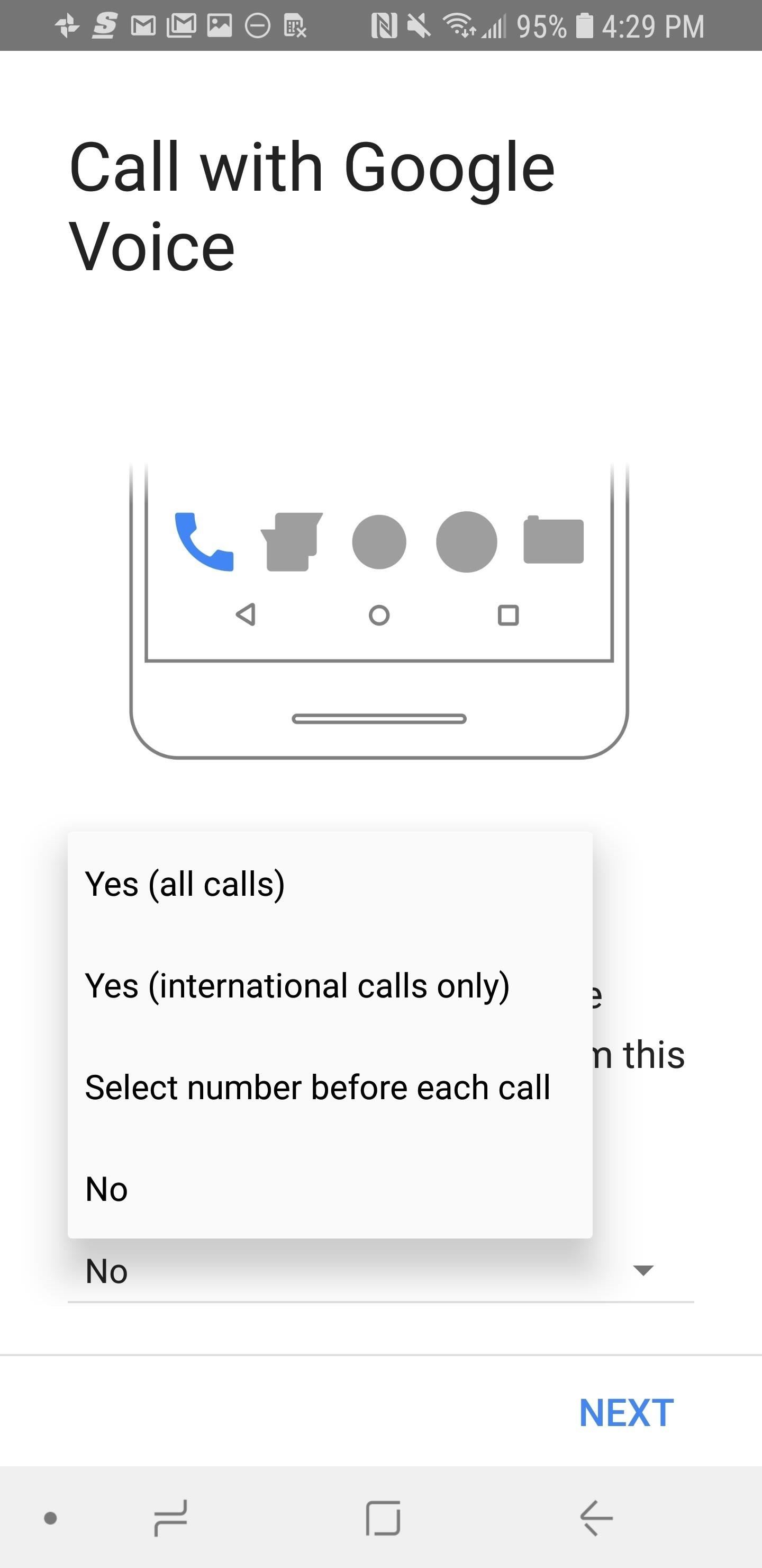 How to set up google voice to get visual voicemail on your unlocked these options may change your outbound phone number to the google voice number you just created when you make calls in the future m4hsunfo