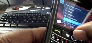 Clean the trackball on a BlackBerry Tour 9630