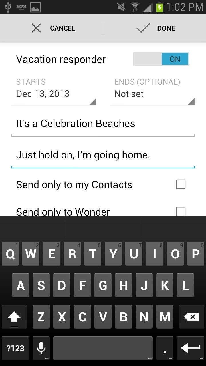 How to Set Auto-Reply Emails When You're on Vacation Directly from the New Gmail Android App