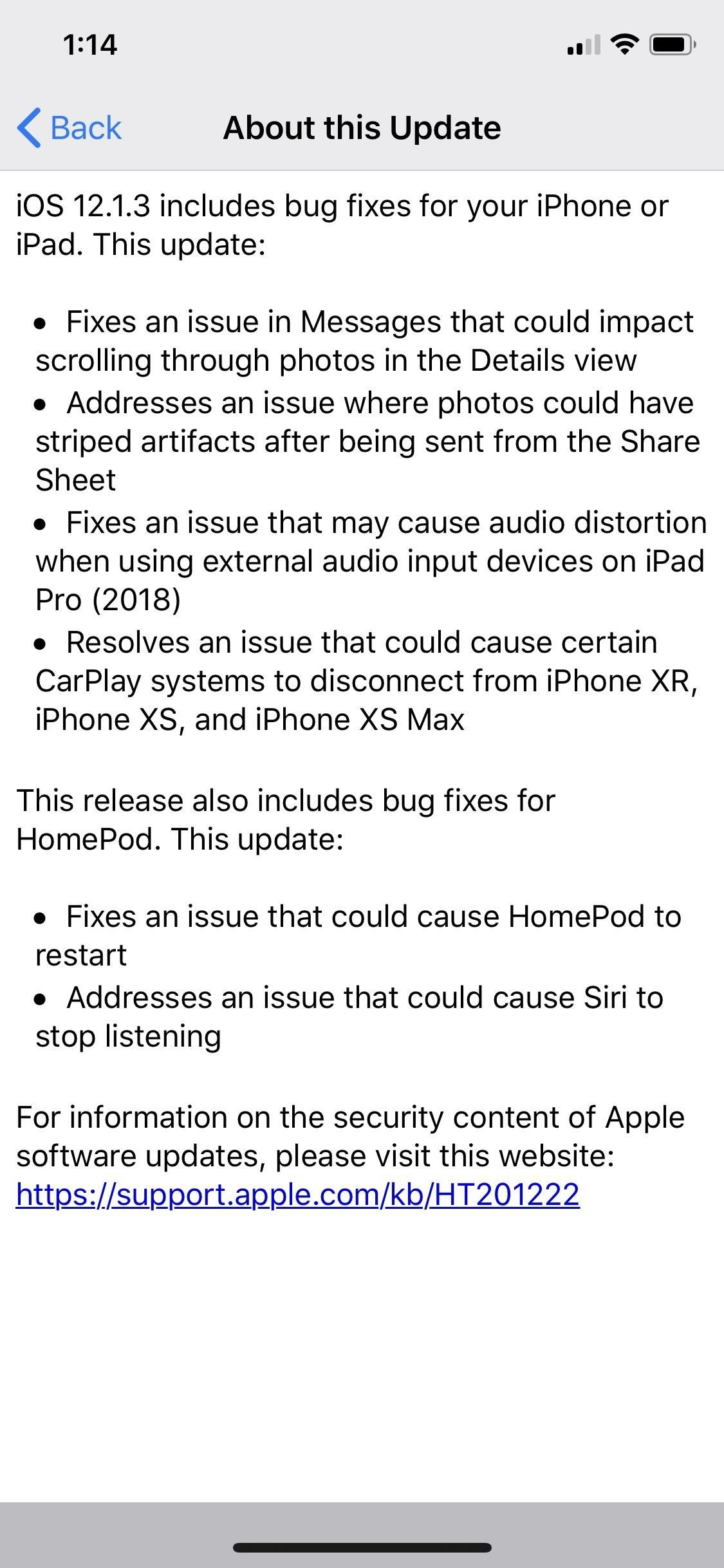 Apple Just Released iOS 12.1.3 for iPhones, Fixes Messages Bug, CarPlay Connectivity & More