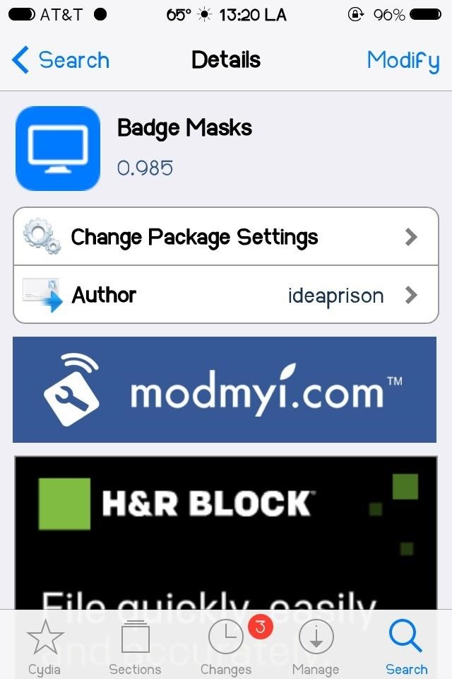 how to cahnge look of iphone with cydia