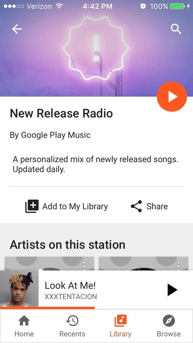 Google Play Music's New Release Radio Works for Everyone