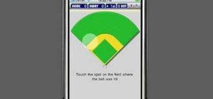 Use the iScore Baseball application on iPhone to keep track of baseball games