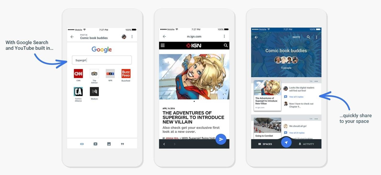 Google's New Group Messaging App Is Like Pinterest & Hangouts in One