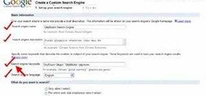 Set up a Google custom search engine