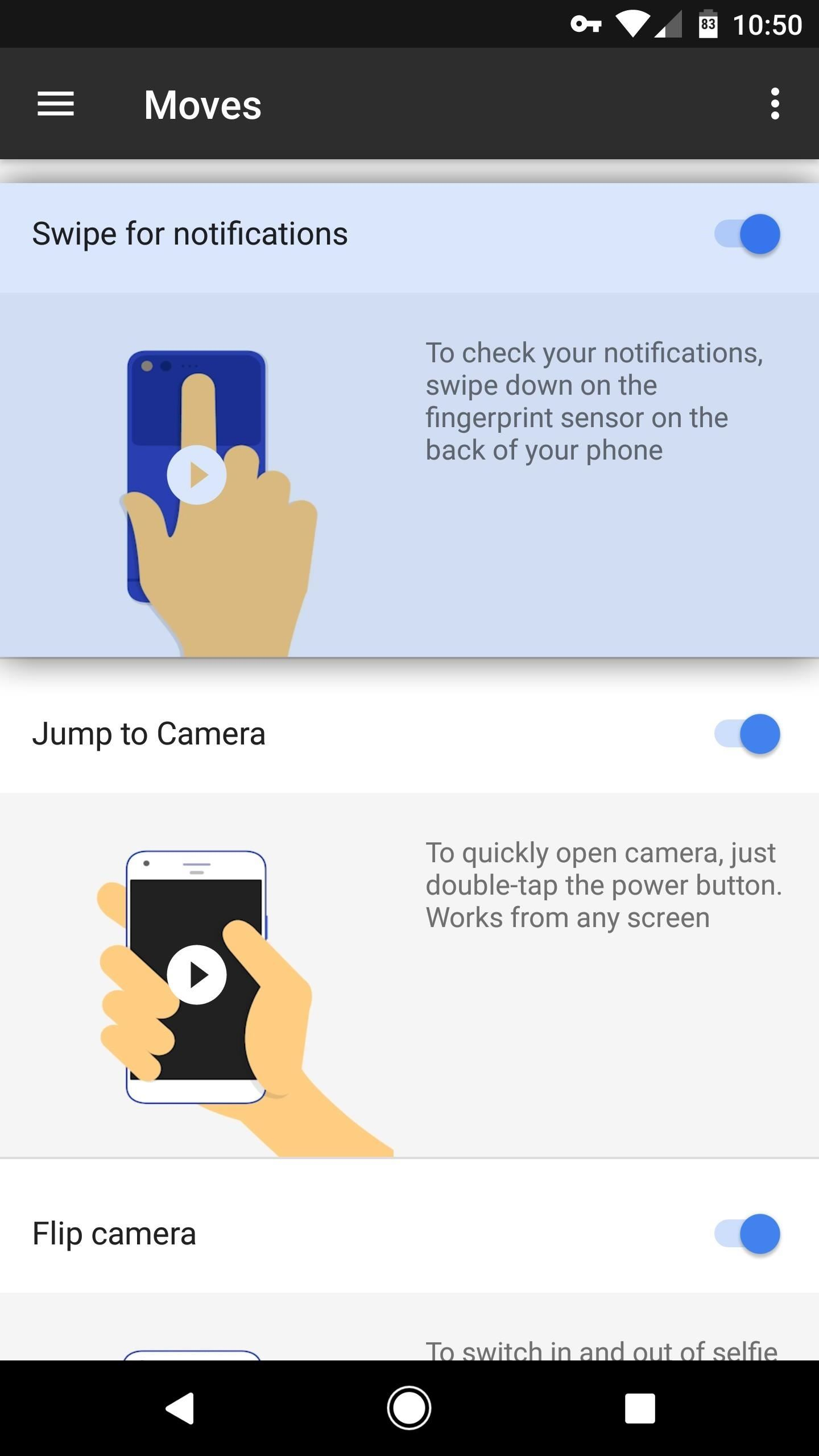 How to Turn on Google Pixel's Fingerprint Swipe Notification Gesture