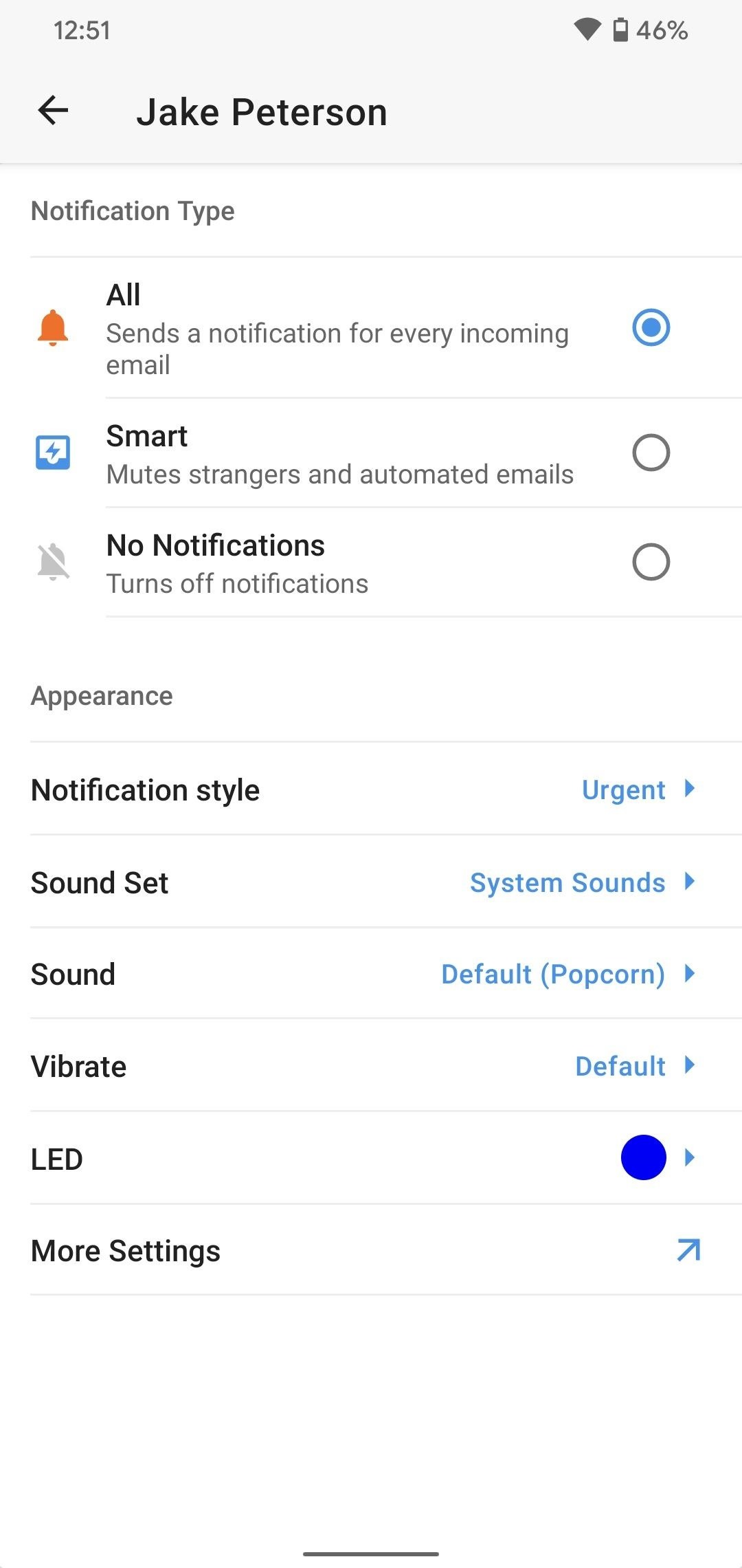 Customize Spark for Android Notifications with Lights, Sounds & Vibrations
