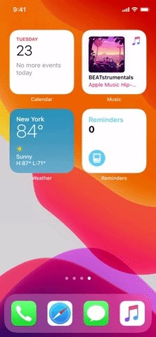Combine iOS 14 Home Screen Widgets into a Swipeable Stack to Save Space