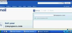 Get a MySpace email address & modify your profile URL