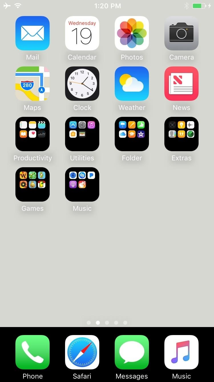 How to Get a Black Dock & Folders on Your iPhone's Home Screen