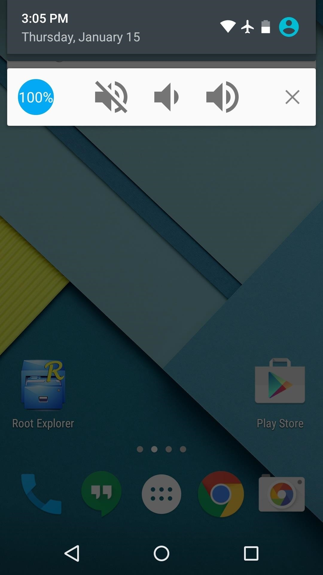 Control Volume Directly from the Notification Tray in Lollipop