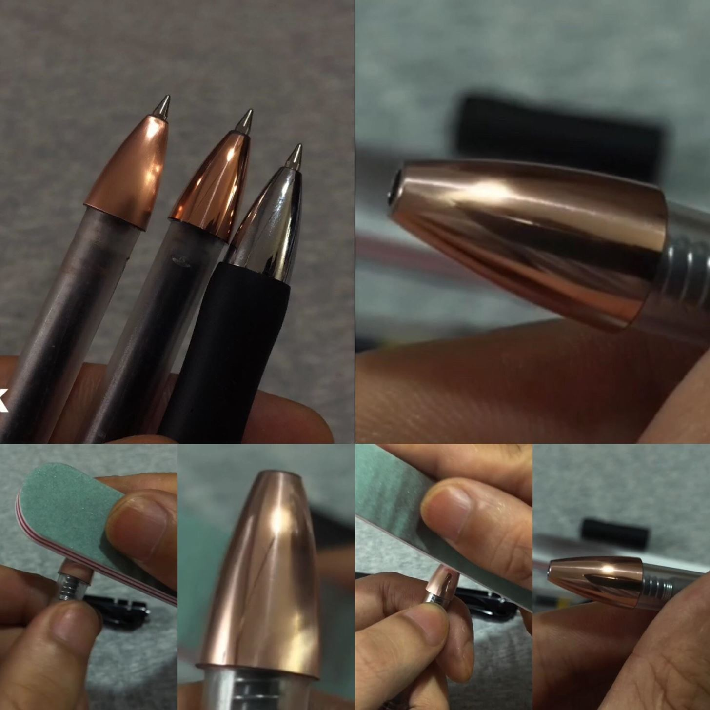 """With Only a Nail Polish Stick You Can Make A""""24k Gold Pen"""" ,DO Not Need Electroplating"""