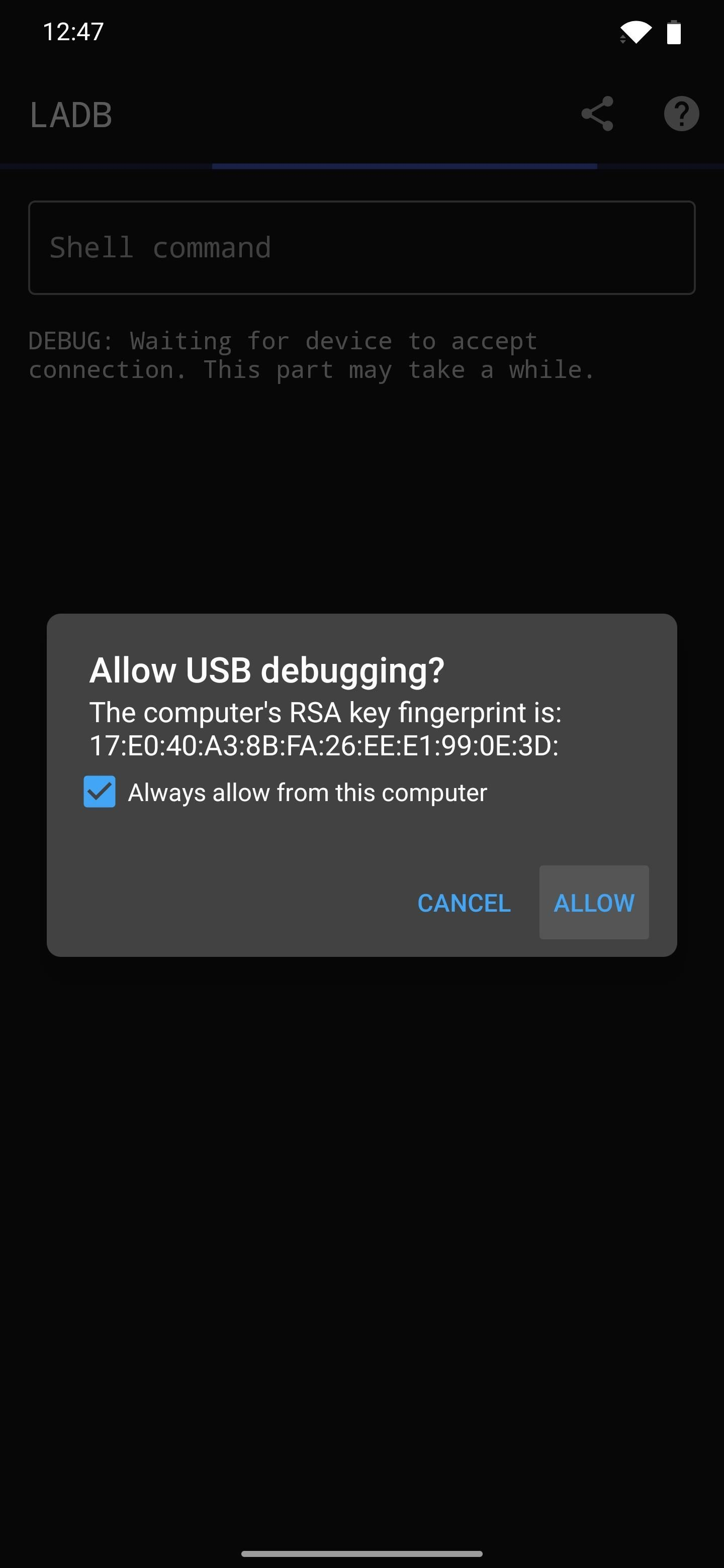 How to Send ADB Shell Commands to Your Own Phone - No Computer Needed, No Root Needed