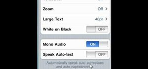 Turn on monaural audio output on an Apple iPhone, iPad or iPod Touch