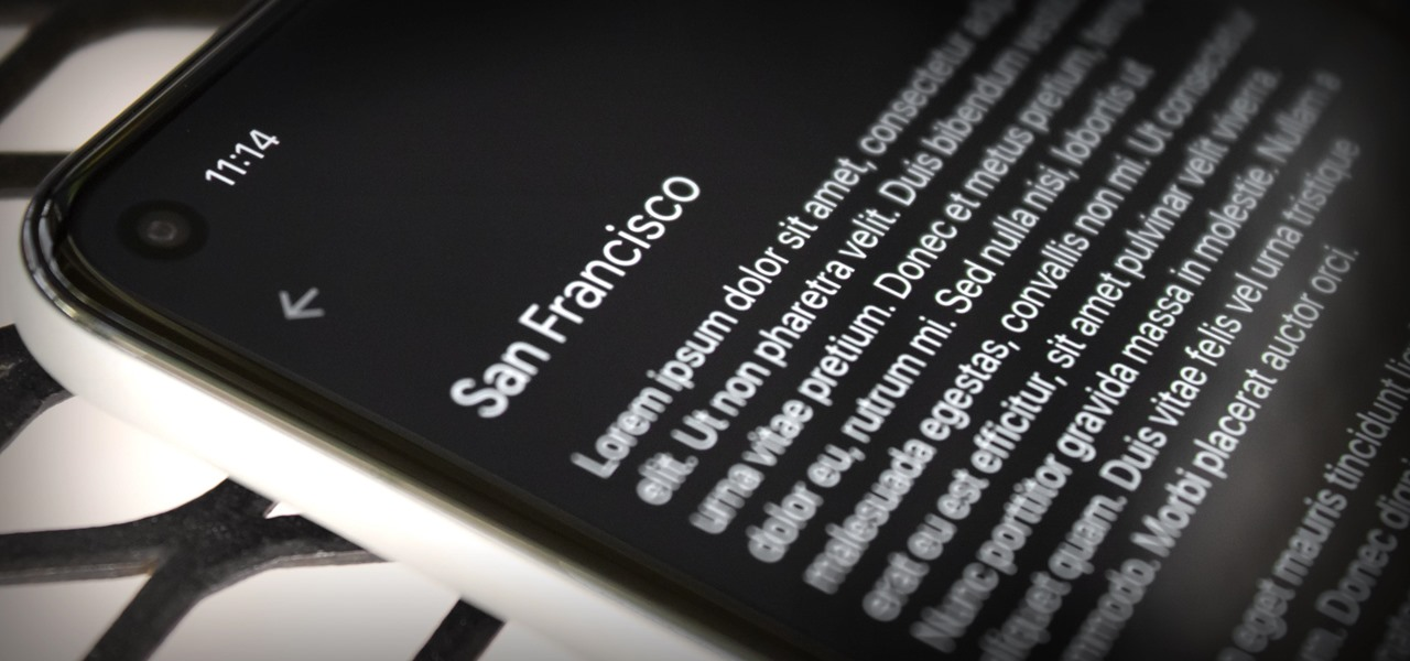 Get the iPhone's System Font on Android