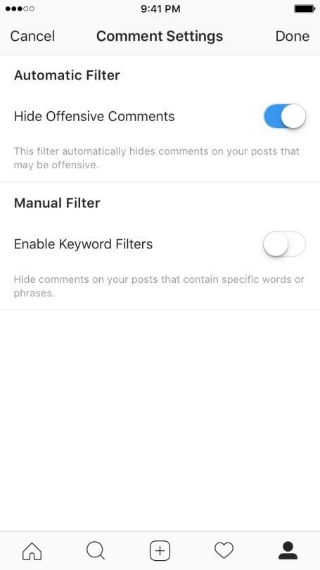 Instagram 101: Here's How to Turn Off Instagram's New Comment Filter