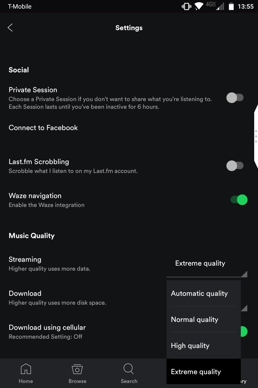 Spotify 101 how to improve sound quality for streaming you can also change the download setting from the section right below streaming though note that this option is only available for spotify premium ccuart Images
