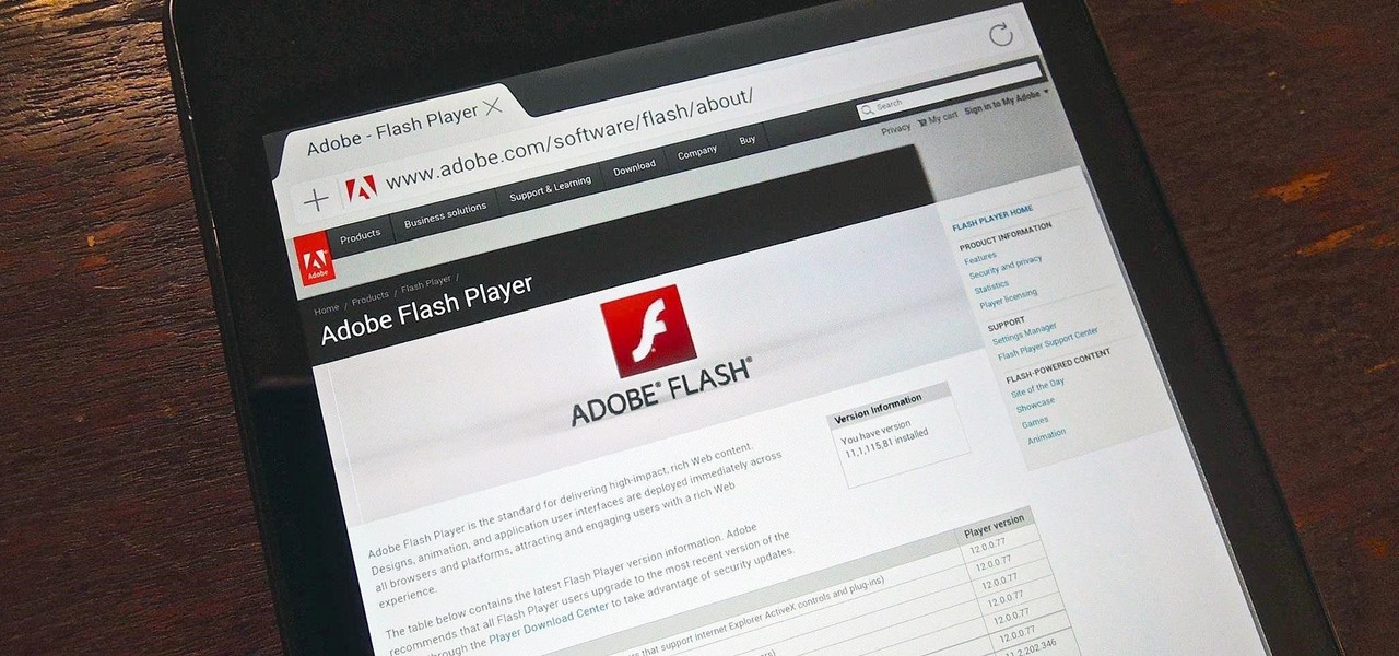 Install Adobe Flash Player on Your Nexus 7 Running Android 4.4 KitKat